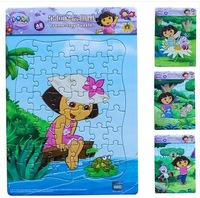 48 Grains Frame puzzle (4 in 1)  for Children special offer Dora/Diego puzzle 26.5*18.5mm --Free shipping