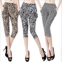 Pants women new 2014 wide leg pants fashion Zebra Leopard trousers women free shipping Retail