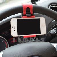 Car Steering Wheel Navigation Phone Universal Drive Mobile Mount Holder Free Shipping