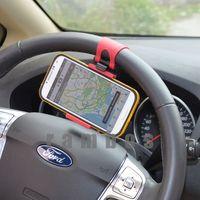 Suporte Para Celular no Carro Universal Mobile Phone Holder Smart Clip Steering Wheel Car Holder for GPS Cell Phone