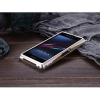 DRACO ONE Metal Aluminum Frame Bumper shell Case Cover Skin for SONY Xperia Z1 Compact - Gold