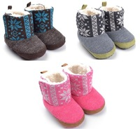 Wholesale baby boots,baby snow boots,winter first walkers for girl,very cute and warm,top quality brand boots,mix 3 colors