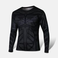 Wholesale! NWT shirt bike G-like Black Batman Men's length Sleeve Jersey Casual Cycling clothing men T-shirt