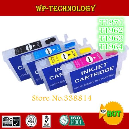 Картридж с чернилами WPT Epson xp/201/xp/204/xp/214/xp/401,  T1971, T1962 T1963 T1964 1971empty runco xp opal50