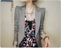 2013 spring women outerwear vintage OL outfit slim blazer 2