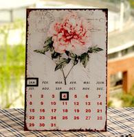Rustic vintage nostalgic calendar metal calendar wrought iron paint colored drawing decorative painting