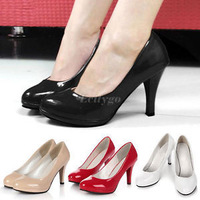 2014 New Fashion Womens Ladies Stiletto High Heels Office Dress Work Court Platform Pumps Free Shipping