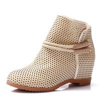 2014 spring cutout elevator women's shoes cutout summer boots net boots plus size