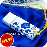 Free shipping Blue And White Porcelain16GB USB 2.0 Flash Memory Pen Drive Stick Drives 100% new Sticks Pen drives U Disk