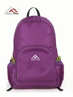 Polar white collar casual ultra-light bag backpack travel bag folding bag backpack