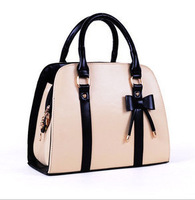 Hot New Fashion Korean Style Womens Faux Leather Handbag Shoulder Bag Beige