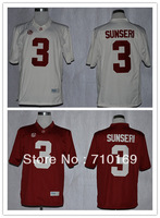 Free Shipping  Alabama Crimson Tide Vinnie Sunseri 3 College Football Limited Jerseys  mix order