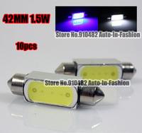Free Shippig 10pcs/lot Car xenon white/blue 42MM SMD 1.5W LED DOME LIGHT Trunk lights BULB WHITE 569 578 6413 6429 12844 DE4410