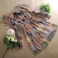 Free Shipping New Sexy Korean  One-piece chiffon lace casual girl dress