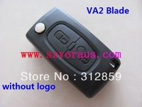 Peu car key case blank, 2 button VA2 blade non-grooved  & Peu flip key blank & car remote case