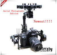 Free shipping by EMS or DHL 3-Axis Camera Brushless Gimbal for Canon 5D2/ MSLR Kit W/ 3x Motors - Aerial Photography Edition