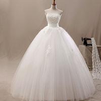 2014 princess appliques design  wedding dress