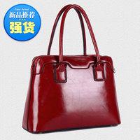 Women's bags 2014 female fashion japanned leather shiny genuine leather cowhide women's handbag shoulder bag