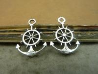 100pcs  antique silver anchor Gear 15*21mm  diy accessories vintage