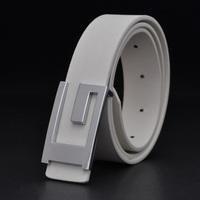G male casual belt fashion trend strap Men white belt women's belt