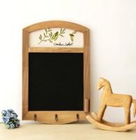 Wooden antique  blackboard  message board wooden presentation board retro wooden memo with embroider 1pc/lot
