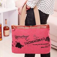 2014 new handbag canvas shoulder bag woman