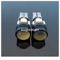 Free Shipping! 20pcs White Car Auto LED T10 W5W 5 led smd 4pcs 5050SMD+1pcs1.5W Wedge CANBUS OBC ERROR FREE led Light Bulb Lamp