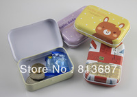 24Pcs Fashionable Aluminum Rectangle Shaped Iron Tin Storage Box Trinket Candy Jewelry Box Pill Box Containers -Free Shipping