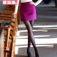 Woolen short skirt autumn and winter female slim hip 2013 slim mid waist basic woolen bust skirt