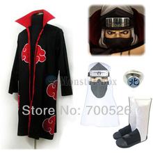 Naruto Akatsuki Kakuzu Cosplay Costume With Heaband-Cap Ring Shoes Cloak Full Set Top Quality Free Shipping