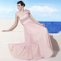 Creative tocsins formal dress 2013 new arrival formal dress pink long design 58020