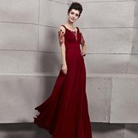 Creative tocsins elegant spaghetti strap type double-shoulder evening dress half sleeve formal dress bride evening dress 30119
