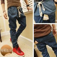 2013 autumn jeans harem pants male british style harem pants male trousers