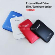 Slim Mobile HDD Portable Disk 320G 2.5'' USB2.0 Laptop&Desktop External Hard Drive Plug and Play 4 color choose(China (Mainland))