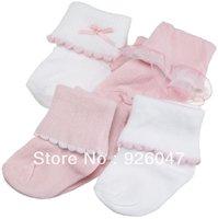 4 pair / lot Free shipping  0-3 years baby girls socks toddler's meias infantil socks baby wear baby socks for girls kids