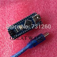 For arduino Nano 3.0 Atmel ATmega328 Mini-USB Board with USB Cable Free Shipping