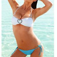 The new wild sexy hot bikini swimsuit crystal diamond bra ultimate seduction swimwear women bathing suit