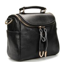 Famous Brand Designer Genuine Leather Full Grain Candy Color Black Beige Red Brown Women Messenger Bags Lady Handbags Purses Hot