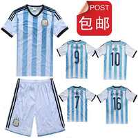 free shipping! 2014 Brazil world cup soccer jerseys jersey set jerseys+shorts Argentina customized high quality