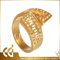 CD Fashion Jewelry Gold Ring Design For Man China Wholesale