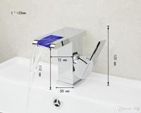 1  Deck Mounted  Ceramic   Hot Sale LED Colorful Chrome Bathroom Mixer Tap Faucet 92684