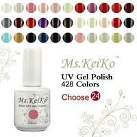 24PCS Gel Nail Polish in 168 Colors  Soak-off UV Led gelishgel Shellac Hot sale Shellac free shipping
