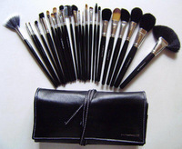 The new 24 Meier cosmetic brushes 24 brush makeup brush + bag silver head bandage white line pinceis ps4 maquiagem FREE SHIPPING