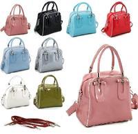 Fashion Women PU Leather Bags Women's patent leather Handbags Ladies Shoulder Bag Totes Purse 140204ds