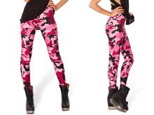 New 2014 Fashion Women's Popular Hipster Pirate Leggins Galaxy Plus Size Fitness Pants Digital Print CAMO PINK LEGGING S106-393(China (Mainland))