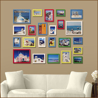 Multicolour photo frame furnishings home wall-mounted solid wood photo frame photos of wall photo wall 23 combination