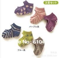 free shipping 6pair/lot  hot sale new design baby boat socks anti slip for boy and girl baby ankle socks infant socks
