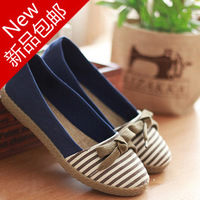 2014 navy striped cotton shoes shoes casual shoes