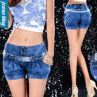 Hot Sale Sexy Ladies Shorts  Denim short Jeans Low  Waist short Pants hole  Style  Free Shipping  women shorts WRM 229