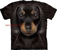 Free shipment  2014 puppydom dachshund short-sleeve cotton male basic o-neck  dog T-shirt